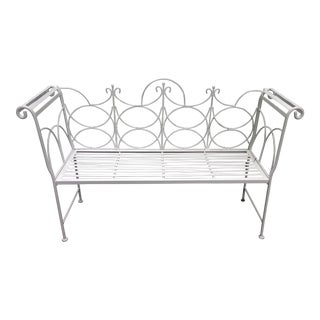 1940s Vintage Iron Bench For Sale