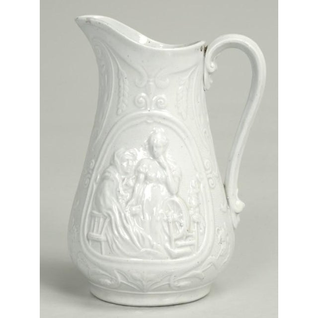 """English English Staffordshire Pitcher """"Old Mother Hubbard"""" For Sale - Image 3 of 11"""