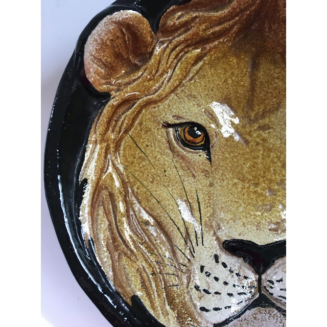 Mid 20th Century Mid-Century Italian Hollywood Regency Lion Decorative Bowl/Catchall For Sale - Image 5 of 12