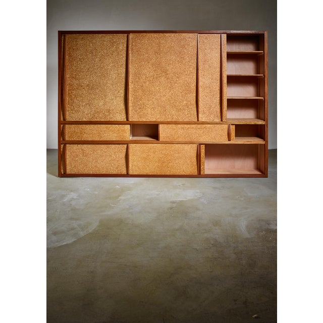 Charlotte Perriand Rare and Complete Charlotte Perriand & Jean Prouve Cupboard From Le Mans For Sale - Image 4 of 7