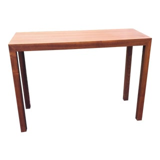 Mid-Century Modern Walnut Parsons Style Console Table For Sale