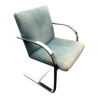 Flat Bar Brno Chair Attributed to Ludwig Mies Van Der Rohe for Knoll For Sale