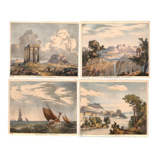 1845 Antique Charles Blunt Cloud Prints, Matted - Set of 4 For Sale