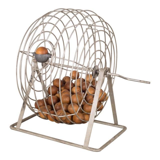 Antique Bingo Cage C. 1940 For Sale