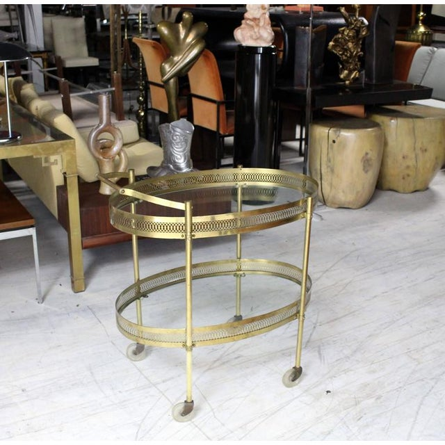 Very nice Mid-Century Modern brass serving cart.