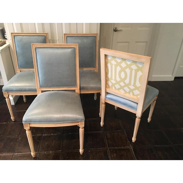 Louis Style Square Back Dining Chairs - Set of 4 - Image 2 of 7