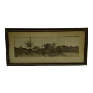 "Vintage ""Country Glen"" Framed and Matted Print For Sale"
