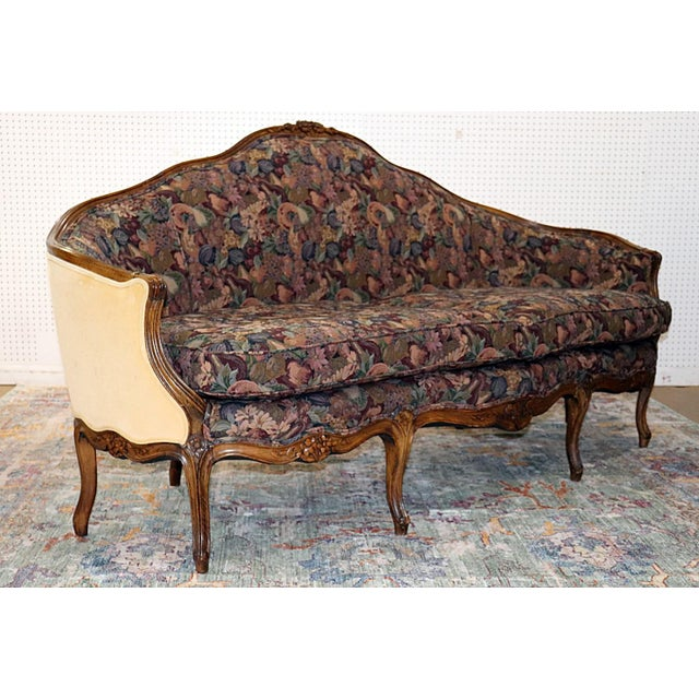 Louis XV Style Carved Walnut Tapestry Sofa For Sale In Philadelphia - Image 6 of 13