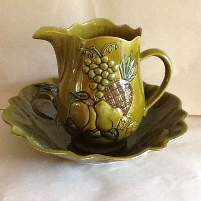 Mid-Century California Pottery Bowl & Pitcher - A Pair - Image 2 of 11