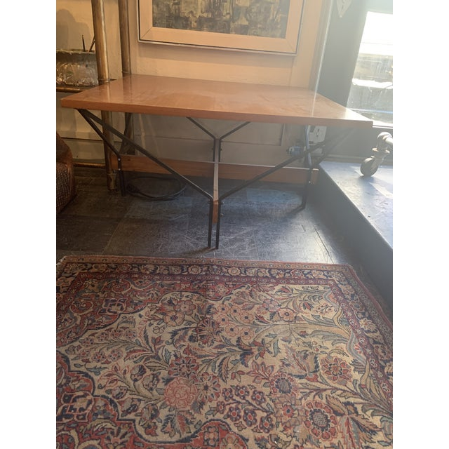 1950s 1950s Danish Modern Wood and Metal Coffee Table For Sale - Image 5 of 8