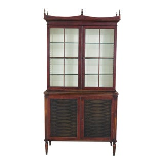 Theodore Alexander Mahogany 2-Door China Cabinet For Sale