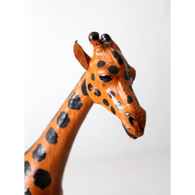 Vintage Leather Giraffe For Sale - Image 9 of 10