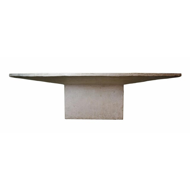 Gray Vintage Faux Raw Stone Dining Table / Conference Table For Sale - Image 8 of 12