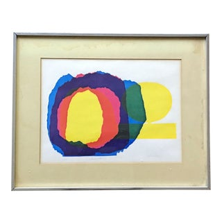Vintage Abstract Silkscreen Print by P. Christgau For Sale