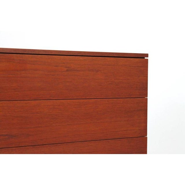 Chrome Pair of Teak Dressers by Florence Knoll For Sale - Image 7 of 11