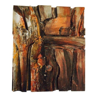 Wood Assemblage and Acrylic Wall Sculpture by Wayne Long For Sale