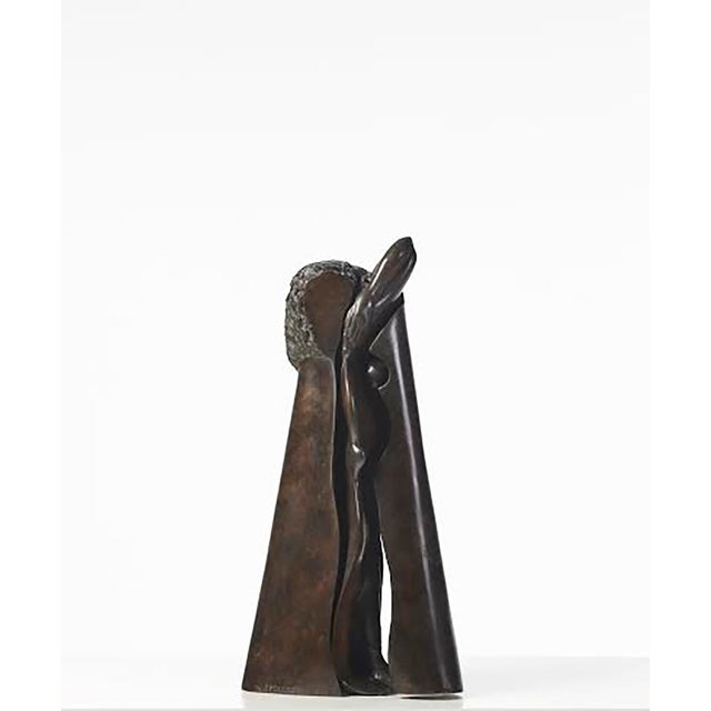 Unique Bronze Sculpture by Jean-Robert Ipoustéguy 'Jeune Fille'/ 'Young Girl' For Sale - Image 6 of 6