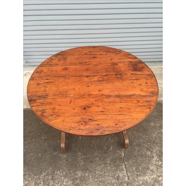 French Antique Winetasting Cellar Table - Image 5 of 5
