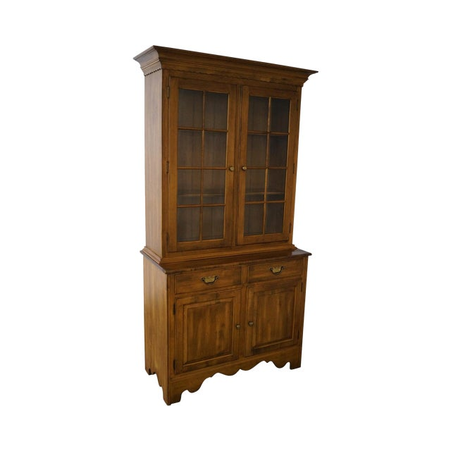 Ethan Allen Circa 1776 Collection Maple China Cabinet Cupboard For Sale