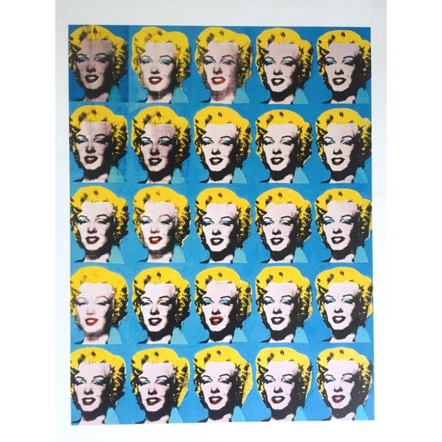 """This Andy Warhol Foundation """" Twenty Five Marilyns """" rare out of print vintage 1993 offset lithograph print is a very..."""