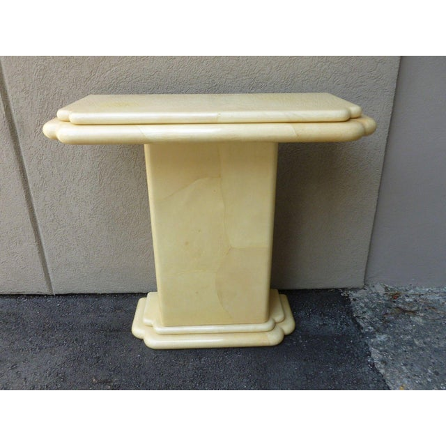 1970s 1970s Vintage Jimeco ltda Goat Skin Console Table For Sale - Image 5 of 7