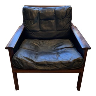 Vintage Mid- Century Danish Leather Chair For Sale