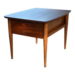 Mid-Century Modern Lane Walnut Side Table