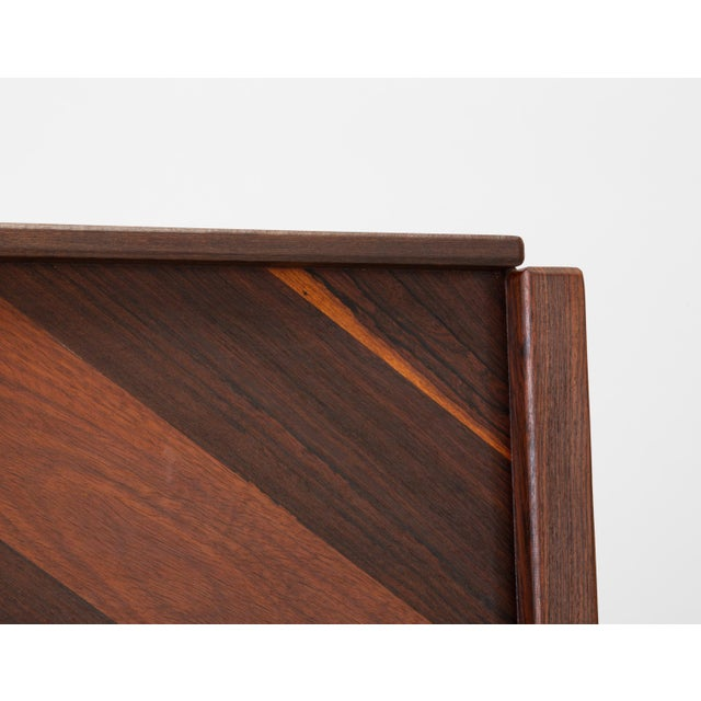 1960s Diamond Motif Rosewood Tray by Don Shoemaker for Señal For Sale - Image 5 of 9