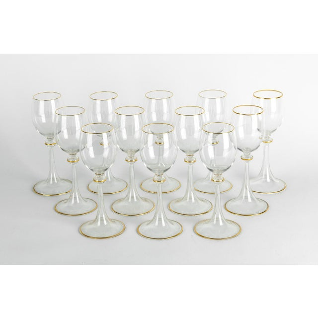Glass Vintage Baccarat Crystal Glassware - Set of 14 For Sale - Image 7 of 7