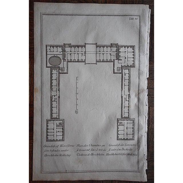 Antique Engraving Floorplan Lg. Folio II - Image 2 of 3