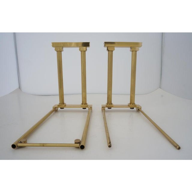 Mid-Century Adjustable Bookend Polished Brass Neoclassic Revival From Italy Book End For Sale - Image 10 of 12