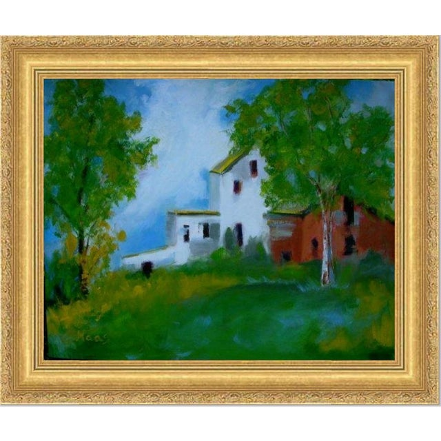 """""""Country Farm"""" Oil Painting Comes Framed For Sale - Image 12 of 12"""