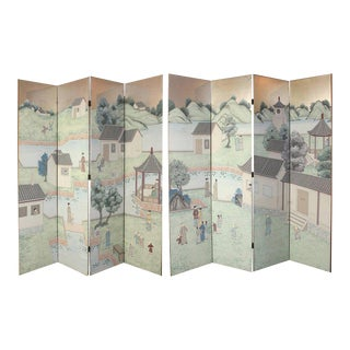 Chinese Eight-Panel Folding Screen For Sale