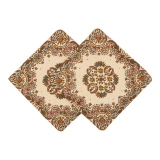 Belgian Tapestry Floral Pillow Covers - a Pair For Sale