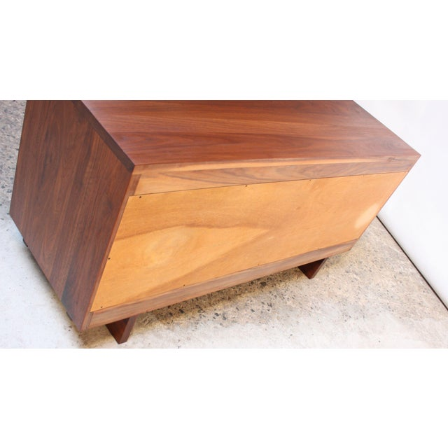 Vintage New England Solid Walnut Chest of Drawers For Sale - Image 9 of 11