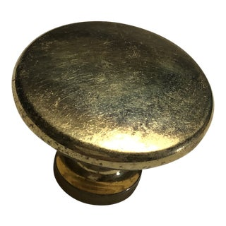Gold Round Circular Cabinet Knobs 20th Century in the Style of Sherle Wagner For Sale