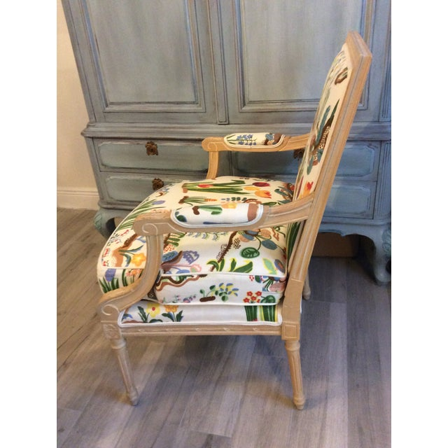 1980s Vintage Swedish/French Bergere Style Chair For Sale In Miami - Image 6 of 12