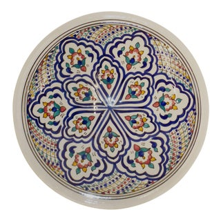 Moroccan Painted Ceramic Plate For Sale