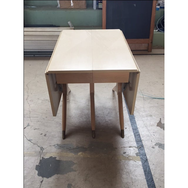 Mid Century Blonde Dining Table - Image 4 of 6