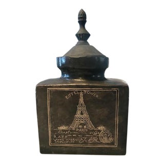 Eifel Tower Jar With Lid For Sale