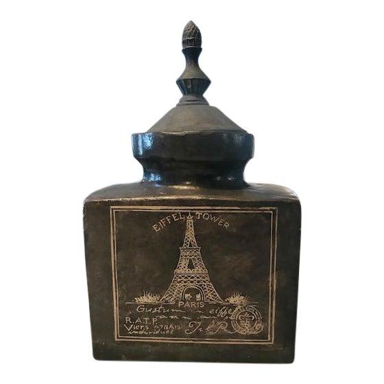 Eifel Tower Jar With Lid For Sale