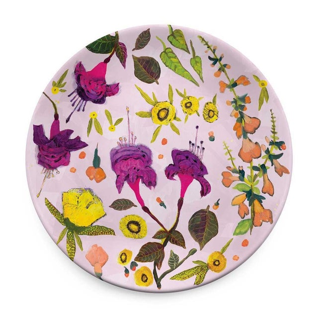 Transitional Kenneth Ludwig Chicago Wildflowers Plates - Set of 4 For Sale - Image 3 of 6