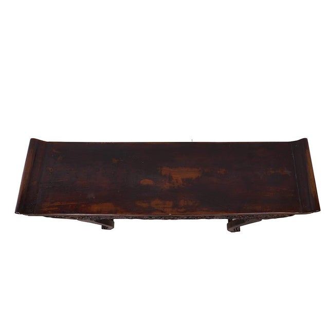Wood Chinese Antique Open Carved Altar Table For Sale - Image 7 of 10