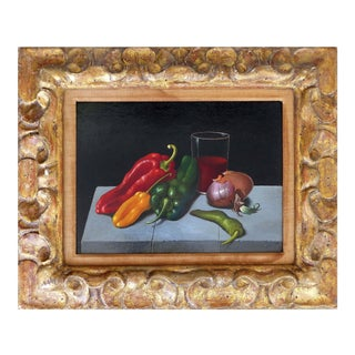 Still Life Oil on Panel Board by Georges Spiro (1909-1994)