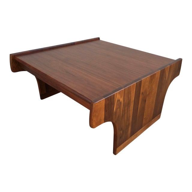 1970s Mid-Century Modern John Keal for Brown Saltman Walnut Coffee Table For Sale