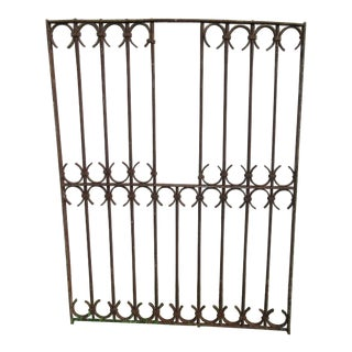 Antique Victorian Iron Architectural Salvage Door For Sale