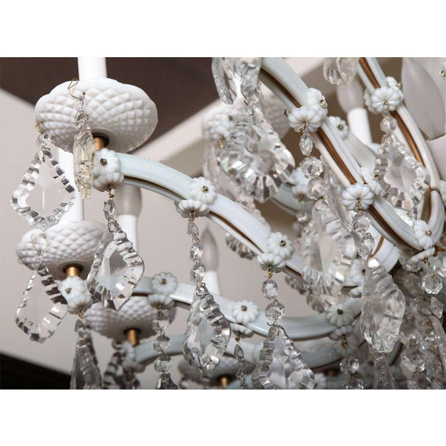 Early 20th Century White Glass Maria Theresa Style Chandelier For Sale - Image 9 of 9