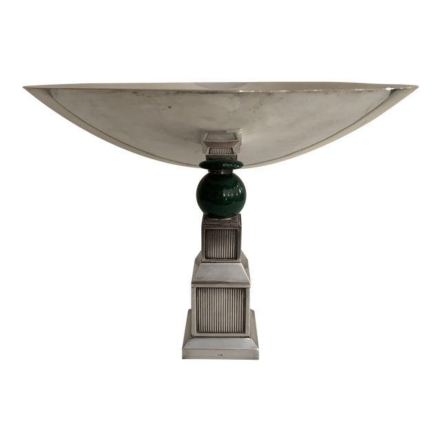 Vintage Gucci Silver Plate Centerpiece Bowl For Sale