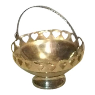 Heart Motif Brass Bowl