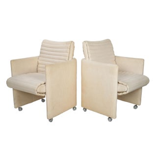 Milo Baughman Armchairs on Casters - Pair Preview